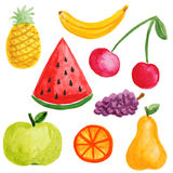 Painted fruits Royalty Free Stock Photos
