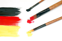 Painted German flag Royalty Free Stock Photography