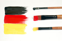 Painted German flag Stock Images
