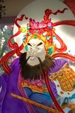 Painted glass of Chinese deity Stock Images