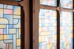 Painted glass doors Stock Photo