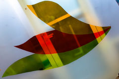 Painted glass. Handmade work ideal for abstract backgrounds. Stock Images