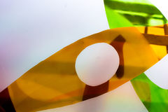 Painted glass. Handmade work ideal for abstract backgrounds. Stock Image