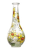 Painted glass vase Stock Images