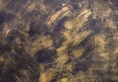 Painted Gold on metal texture for background Stock Image
