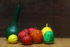 Painted gourds Stock Image