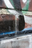 Painted graffiti on brick wall Royalty Free Stock Photos