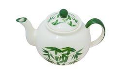 Painted green bamboo tea pot Royalty Free Stock Photography