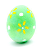 Painted green easter egg isolated Stock Image