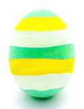 Painted green easter egg isolated Royalty Free Stock Photography