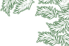 Painted green plants Royalty Free Stock Photos