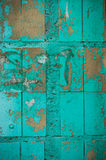 Painted green tiles Stock Image