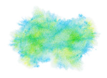 Painted green watercolor stain Royalty Free Stock Photos