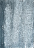 Painted grey grunge background on watercolor paper Royalty Free Stock Photography