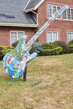 Painted Guitar Stock Image