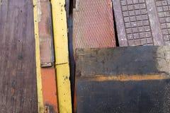 Painted ha strutturato e legno decorativo Fotografia Stock