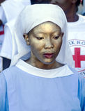 Painted Haitian Nurse Stock Image