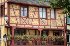 Painted half-timbered facade Stock Photo