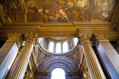 Painted hall in Greenwich. London Stock Image