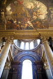 Painted hall in Greenwich. London Royalty Free Stock Images