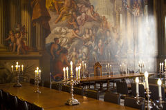 Painted hall in Greenwich. London Stock Photo