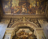 Painted hall in Greenwich. London Royalty Free Stock Image