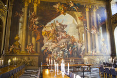 Painted hall in Greenwich. London Stock Photography