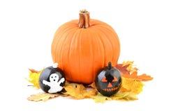 Painted Halloween pumpkins Royalty Free Stock Image