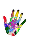 Painted hand Stock Photo