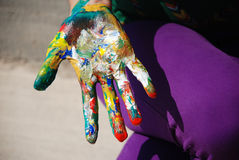 Painted hand Royalty Free Stock Photo