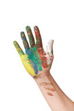 Painted hand Stock Photos