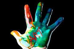 Painted Hand Royalty Free Stock Images
