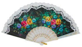 Painted hand fan Royalty Free Stock Photography