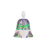 Painted handmade ceramic bell. Royalty Free Stock Images