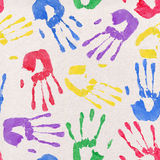 Painted Handprint Backdrop Stock Photo