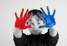 Painted hands Stock Photos