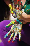 Painted hands Royalty Free Stock Image