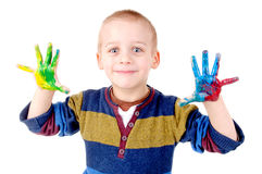 Painted hands Royalty Free Stock Photography