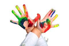 Painted hands Stock Image