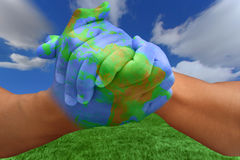 Free Painted Hands Like The Planet Stock Photography - 5862212