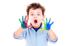 Painted hands Royalty Free Stock Photos