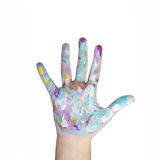 Painted hands Stock Photography