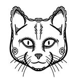 Painted head of cat Royalty Free Stock Photo