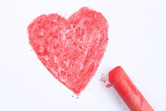 A painted heart Royalty Free Stock Image