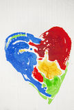 Painted heart Royalty Free Stock Image
