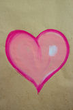 Painted heart Stock Photography