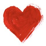 Painted heart Stock Image