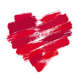 Painted Heart From Brush Strokes Stock Image