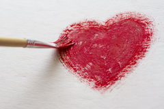 Painted heart Stock Images