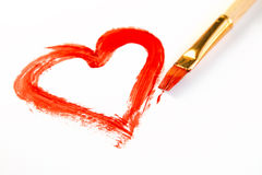 Painted heart Royalty Free Stock Photography